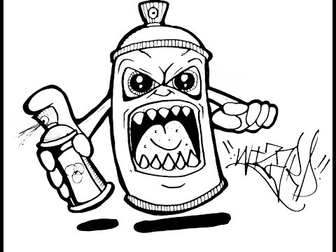 spray paint coloring pages - photo#7