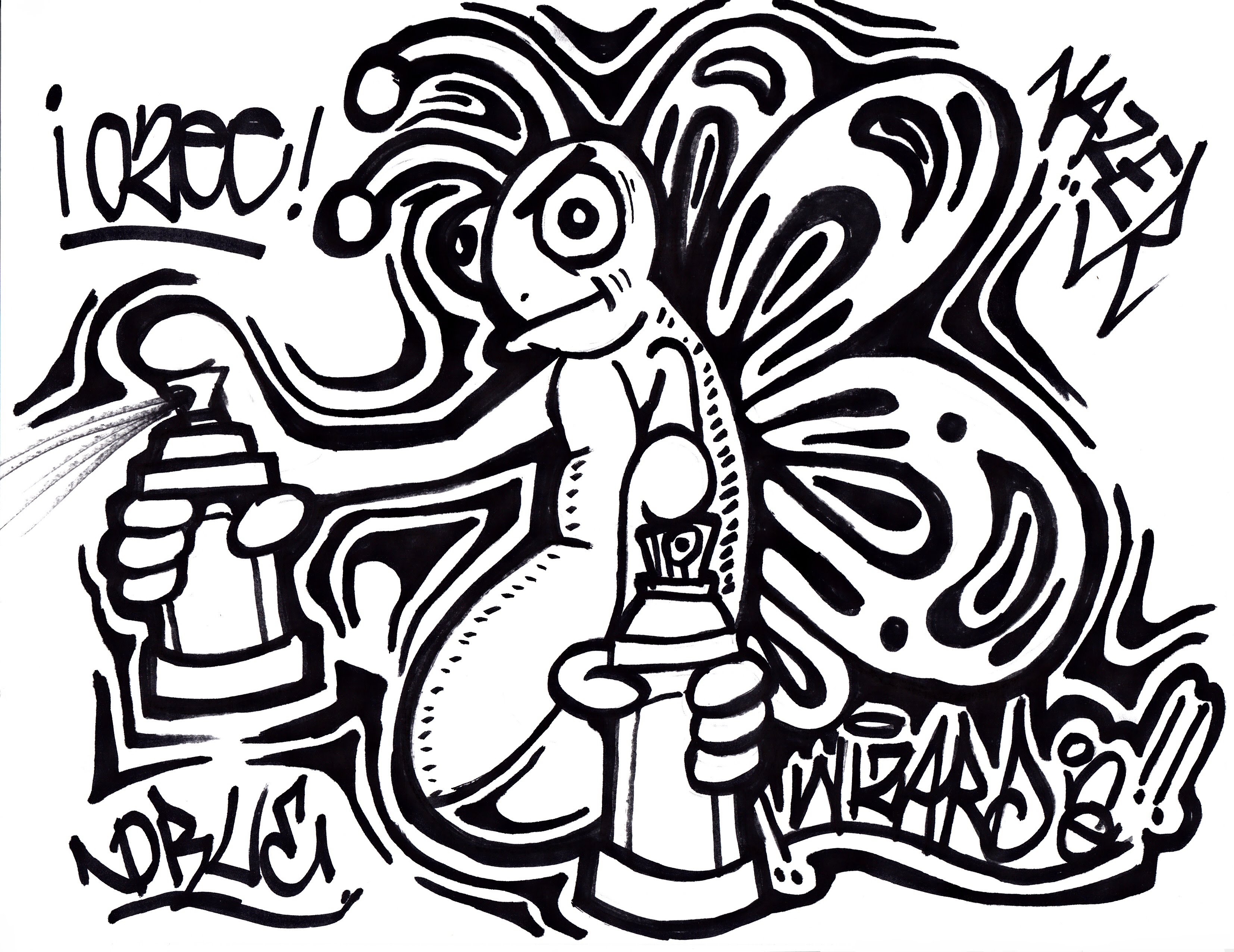 Graffiti Spray Cans Drawing At Getdrawings Com Free For Personal