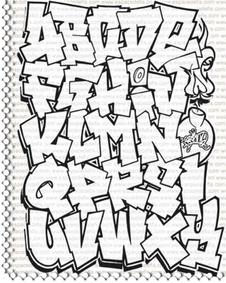 Graffiti Words Drawing