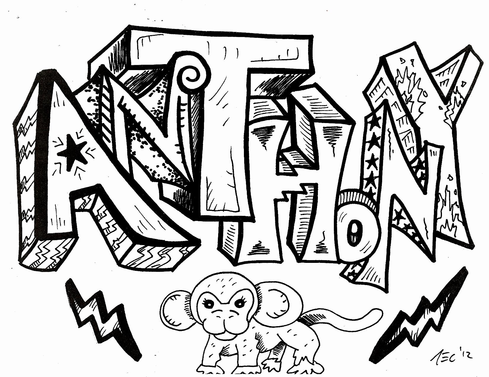 1652x1275 Graffiti Letters