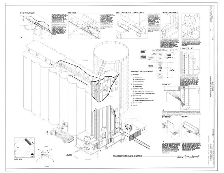 Grain Elevator Drawing At Getdrawings Com