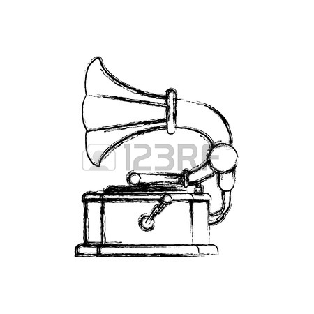Gramophone Drawing