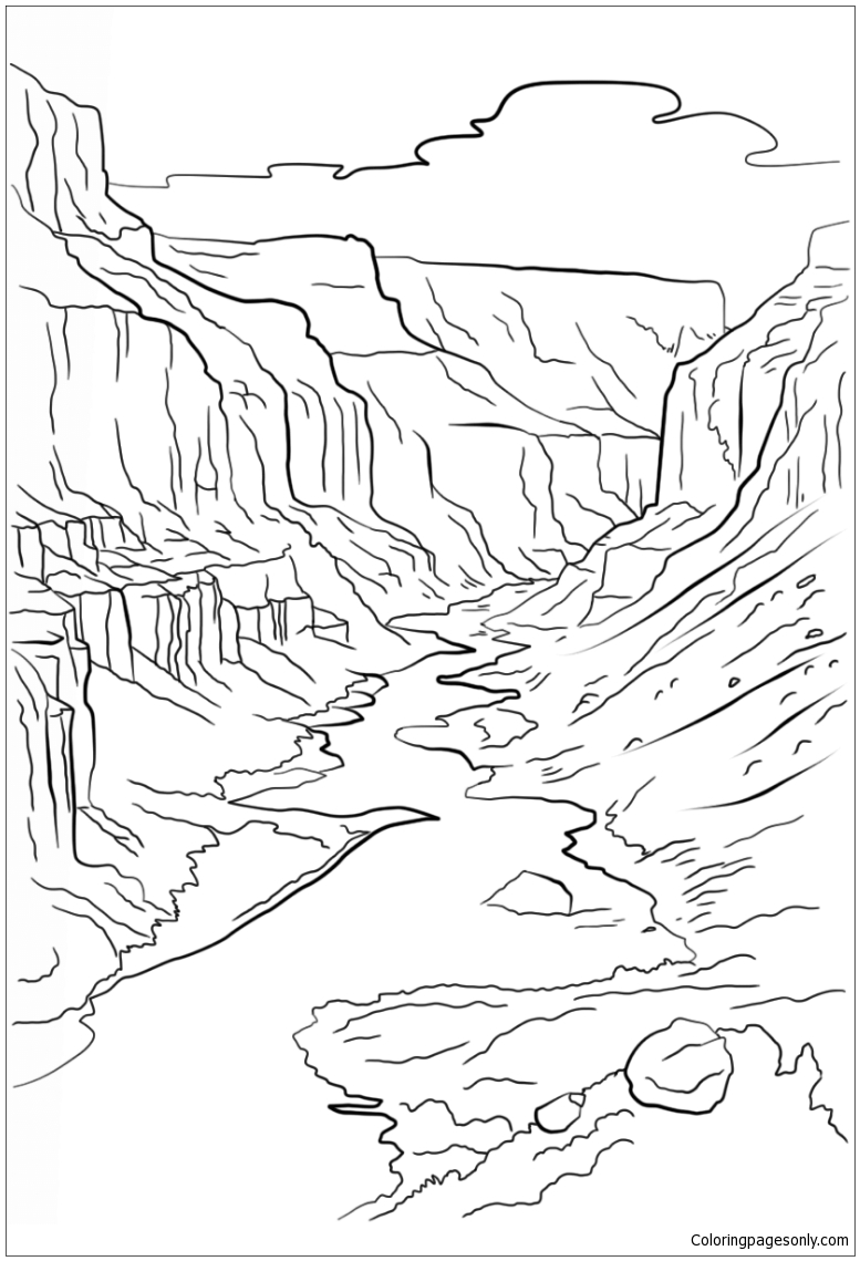 777x1139 Grand Canyon Coloring Page