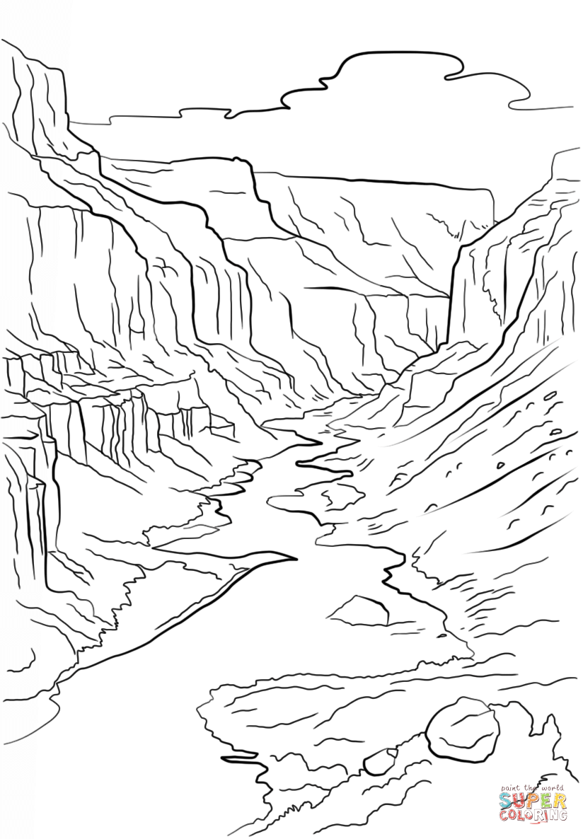 824x1186 Grand Canyon Coloring Page Free Printable Coloring Pages