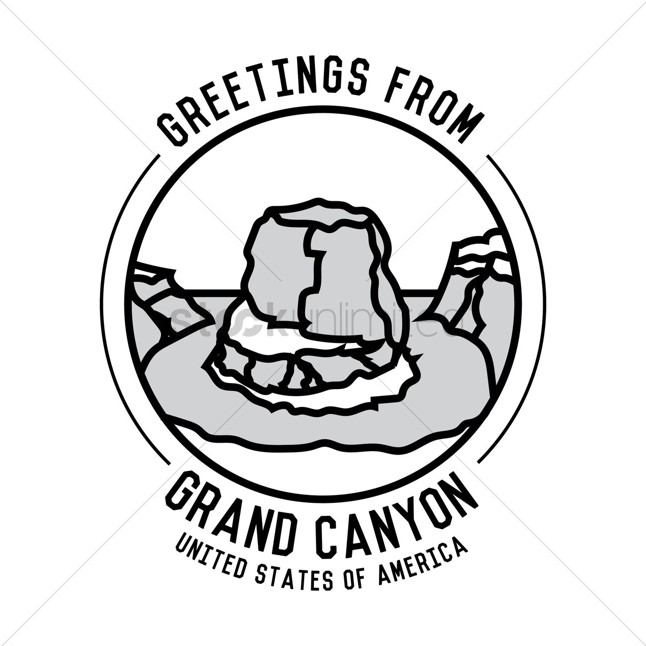 1300x1300 Grand Canyon Vector Image