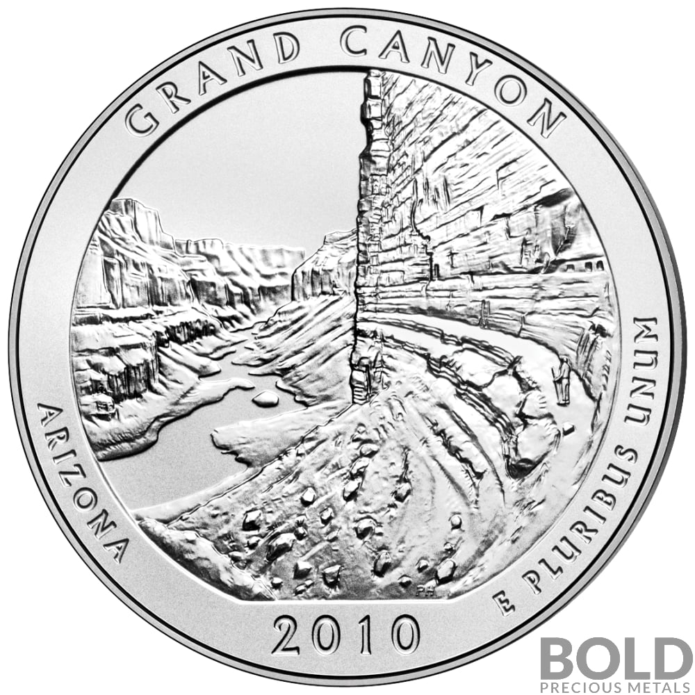1000x1000 2010 Silver 5 Oz Atb Grand Canyon, Arizona
