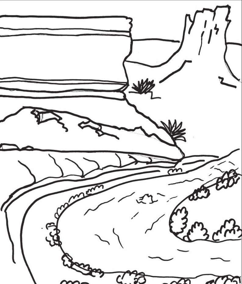 794x932 Canyon Coloring Pages Grand Canyon Printable Coloring Pages