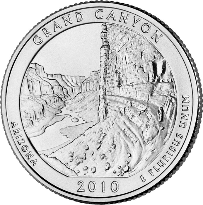 693x700 Canyon National Park Quarter