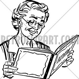 300x300 Grandma With Photo Album,