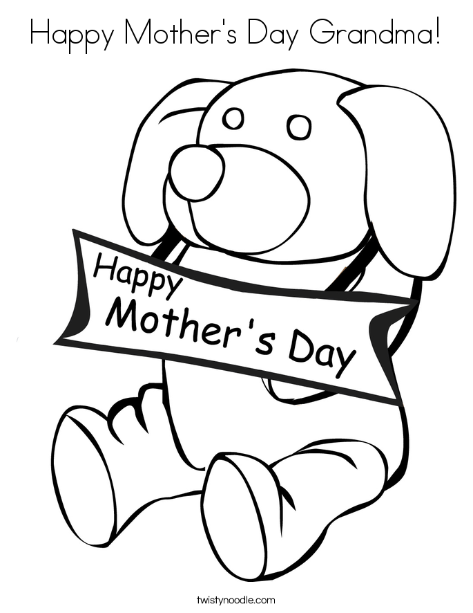 685x886 Happy Mother's Day Grandma Coloring Page