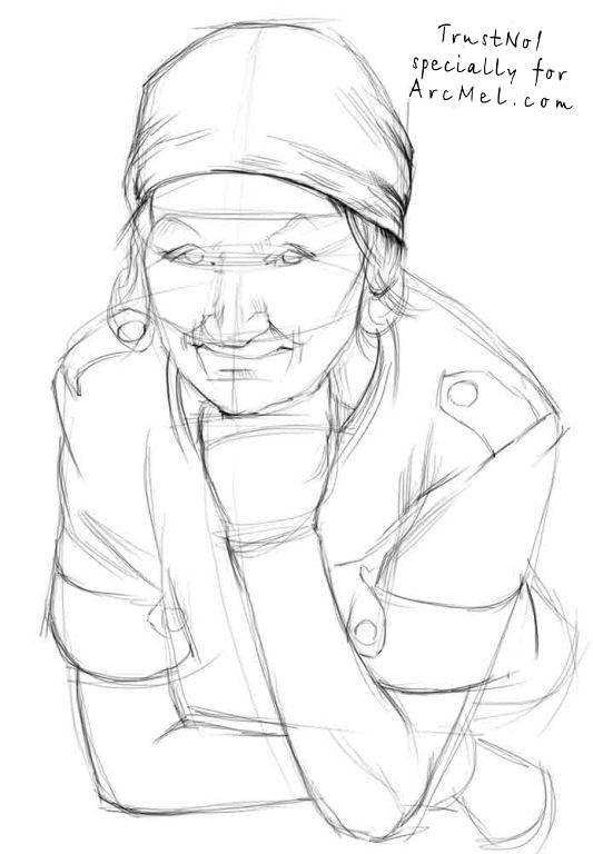 533x768 How To Draw A Grandma Step By Step