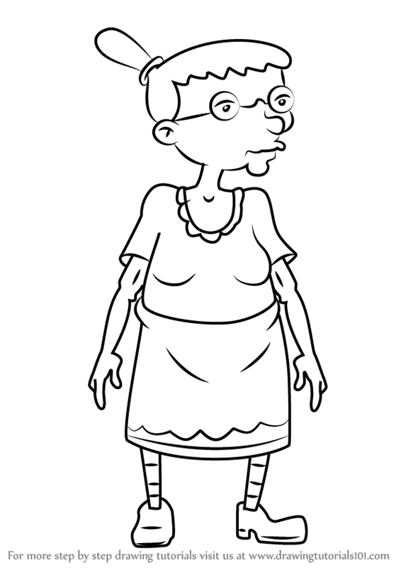 566x800 Learn How To Draw Grandma Gertrude From Hey Arnold! (Hey Arnold