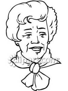 225x300 And White Line Drawing Of An Elderly Lady