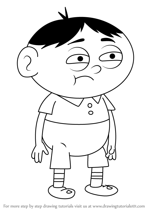 600x846 Learn How To Draw Akira From Uncle Grandpa (Uncle Grandpa) Step By