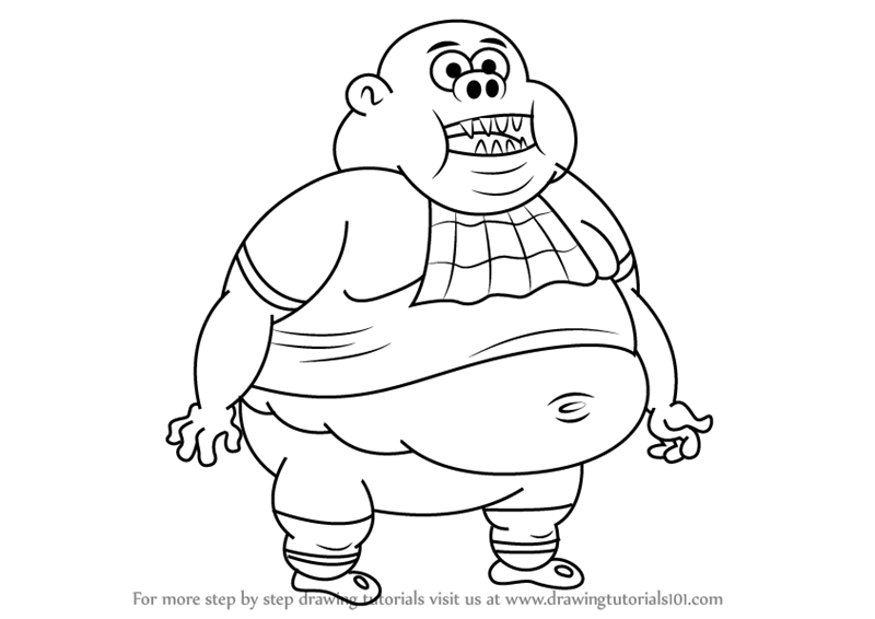 800x566 Learn How To Draw Curly From Uncle Grandpa (Uncle Grandpa) Step By