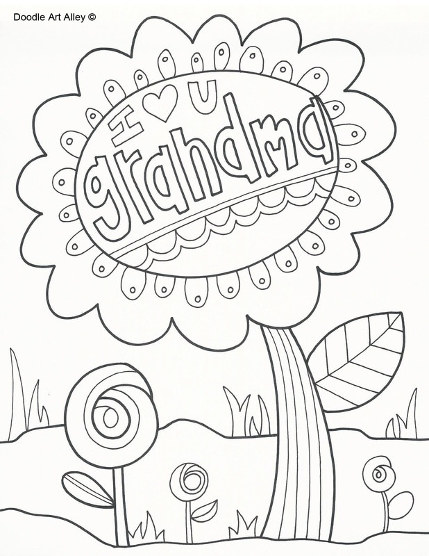 618x800 Grandparents Day Coloring Pages
