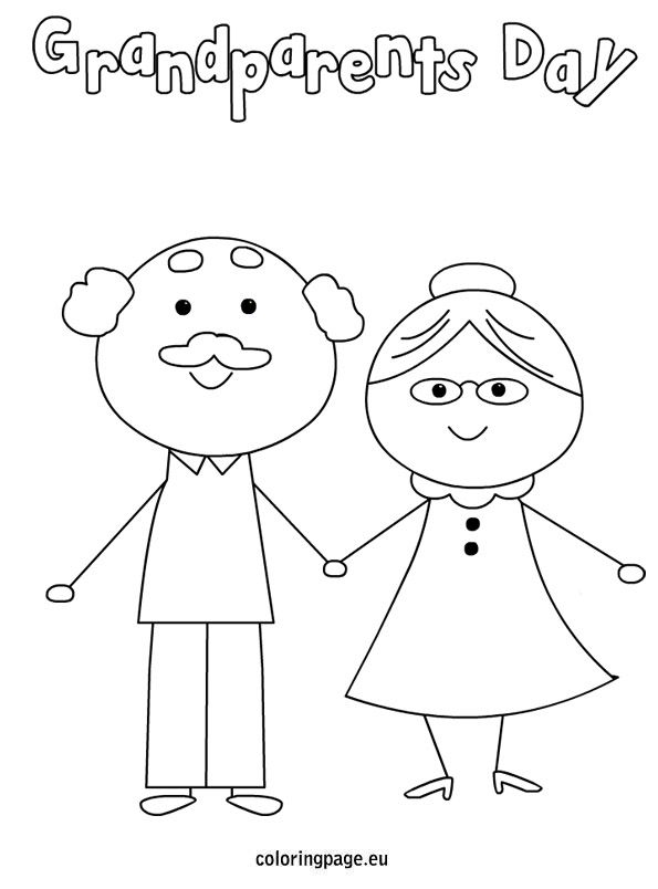 Clever image for grandparents day printable coloring pages