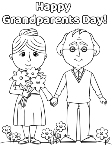 371x480 Happy Grandparents Day Coloring Page Free Printable Pages