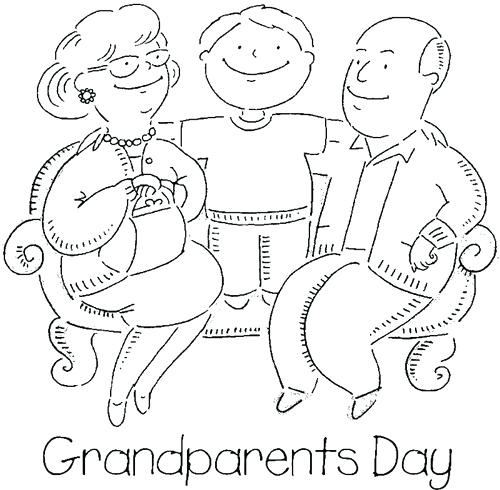 500x490 Happy Grandparents Day Coloring Pages Grandparents Day Coloring