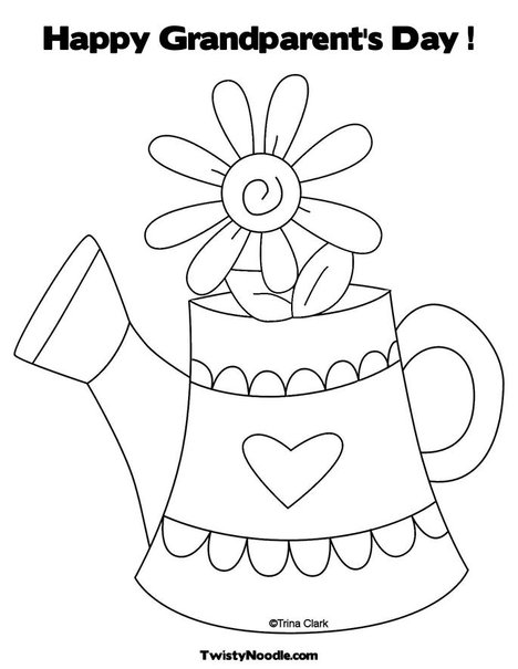 468x605 Happy Grandparents Day Coloring Pages
