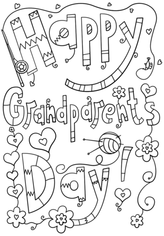 333x480 Happy Grandparents Day Doodle Coloring Page Free Printable