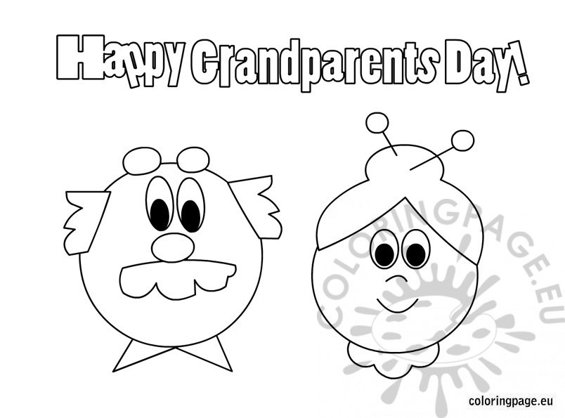 804x595 Happy Grandparents Day Free Coloring Page
