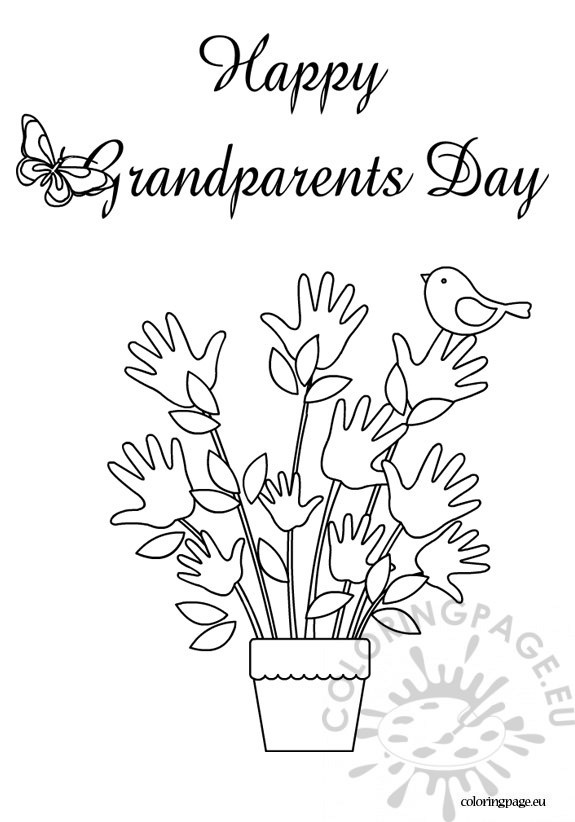 575x822 Happy Grandparents Day Coloring Sheet Coloring Page