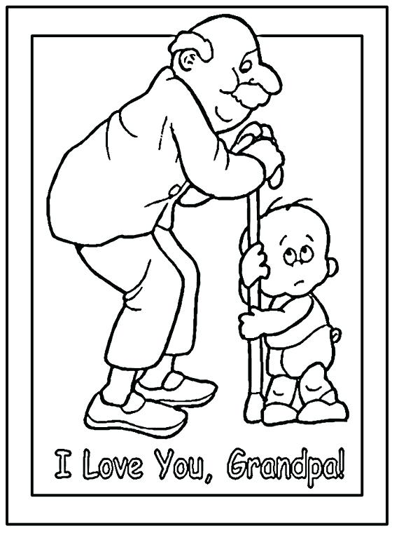 570x760 Drawing Grandparents Coloring Page Characters Printable Pages Day
