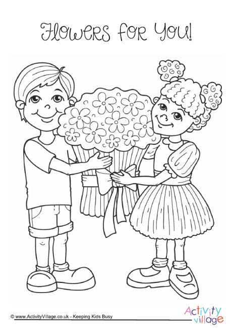 460x650 Grandparents' Day Colouring Pages