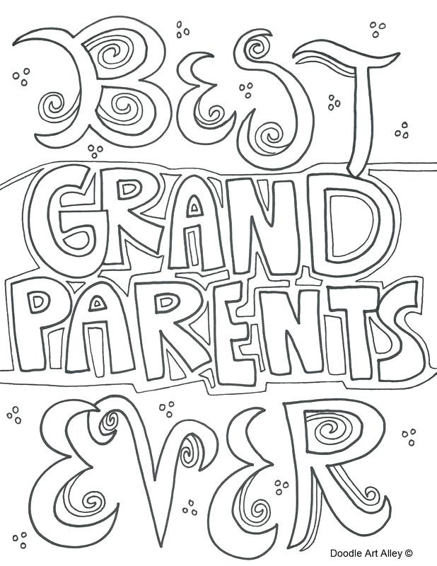 618x800 Grandparents Coloring Page Grandparents Quote Picture Grandparents