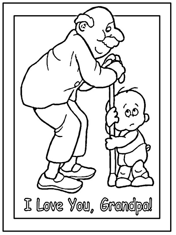 570x760 Grandparents Day Coloring Pages To Print And Color