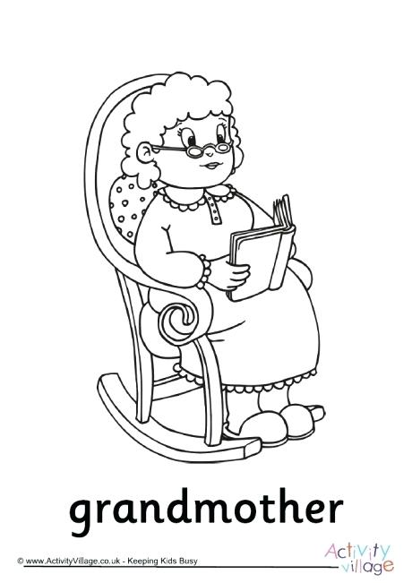 460x651 Happy Grandparents Day Coloring Pages Grandmother Colouring Page