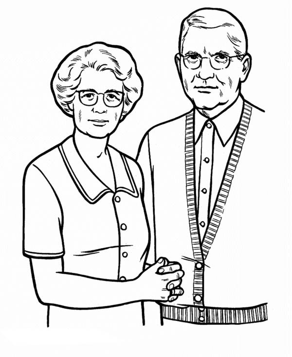 600x734 Picture Of Our Grandparent In Gran Parents Day Coloring Page