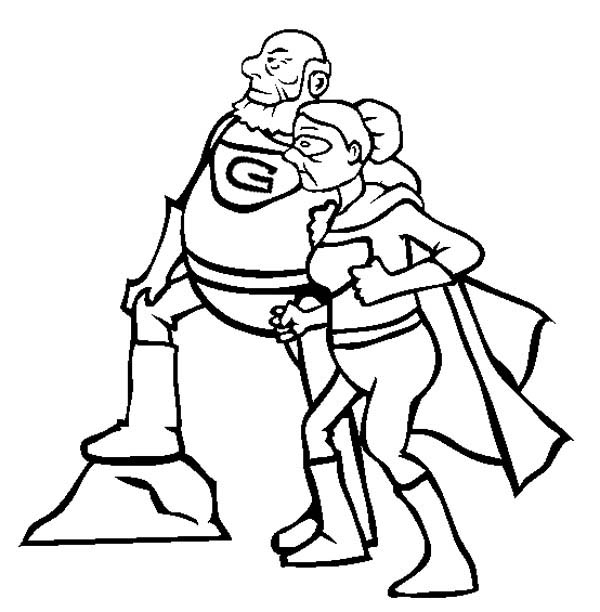 600x612 Super Grandparents In Gran Parents Day Coloring Page