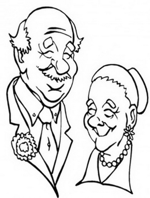 570x756 Grandparents Coloring Pages Free Grandparent Coloring Pages (5