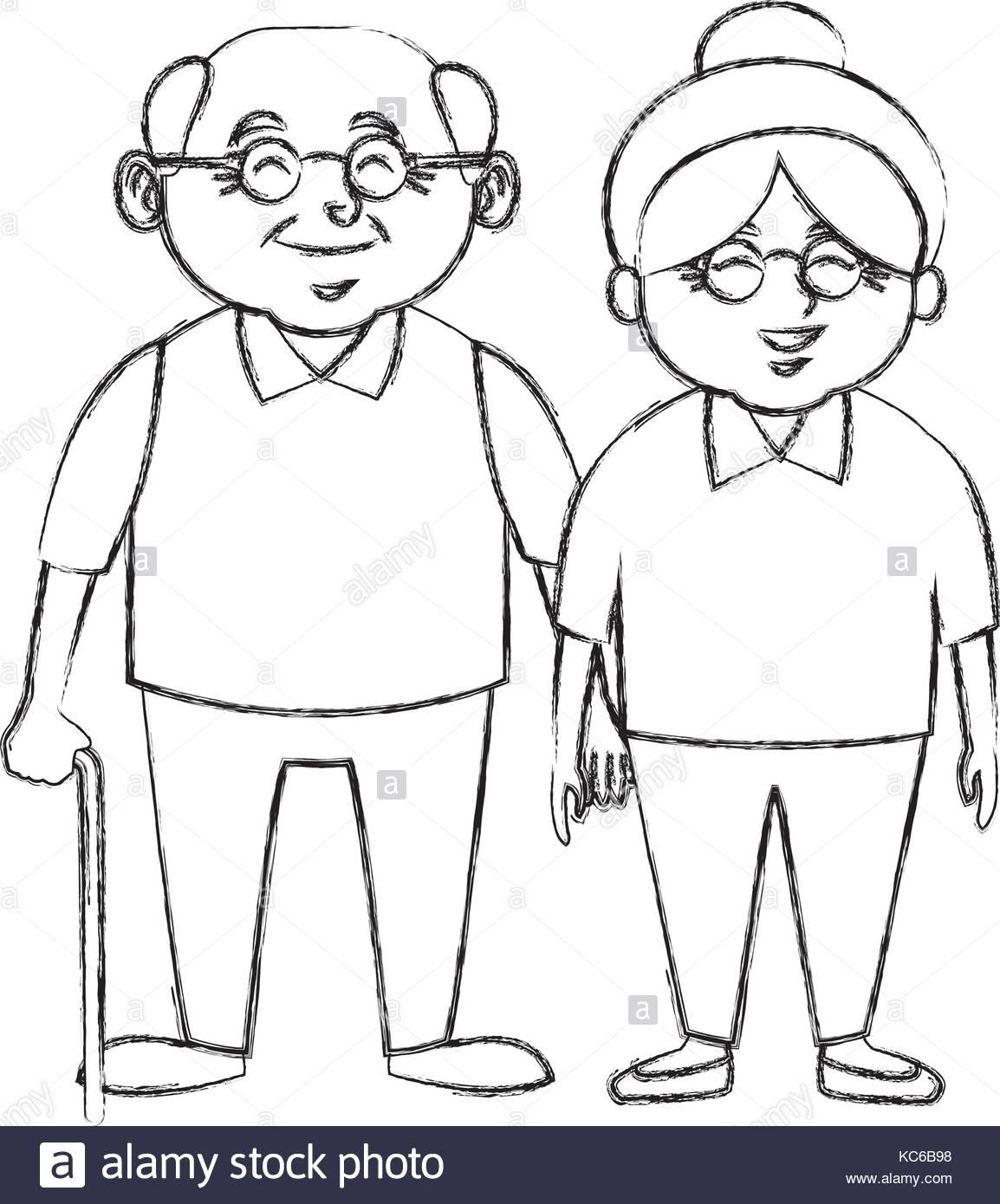 1154x1390 Cute Grandparents Couple Cartoon Stock Vector Art Amp Illustration