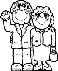236x287 Dibujos De Abuelos Para Colorear Grandparents