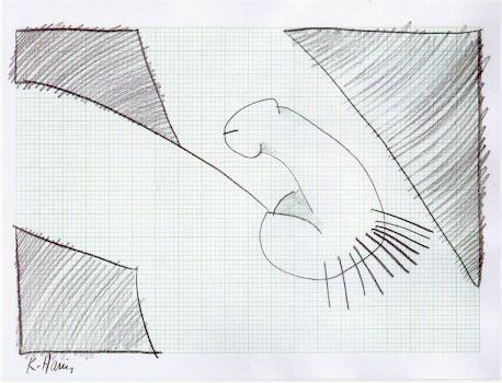 458x350 Keith Haring, Graph Penis, Pencil Drawing