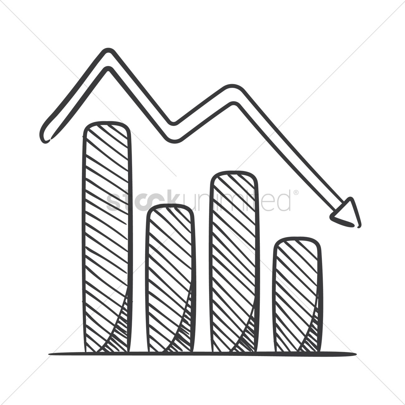 1300x1300 Bar Graph Vector Image