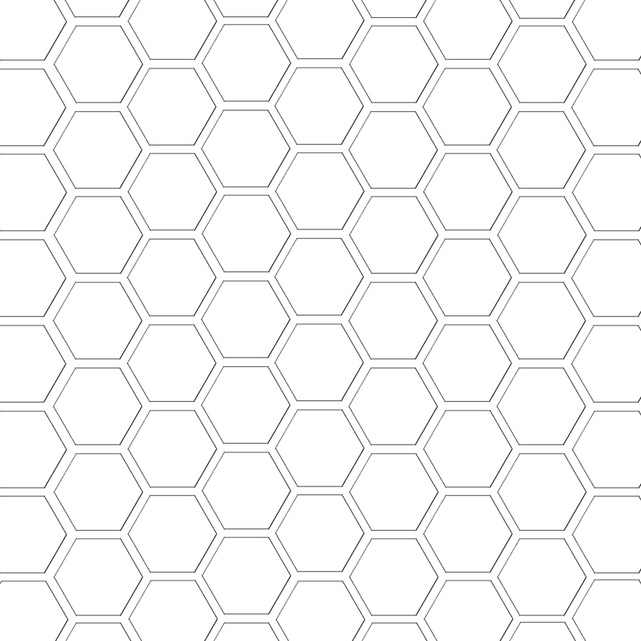 900x900 Graph Hexagonal Graph Paper