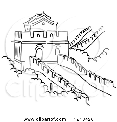 450x470 Great Wall Of China Easy Drawing Sub Plans Easy