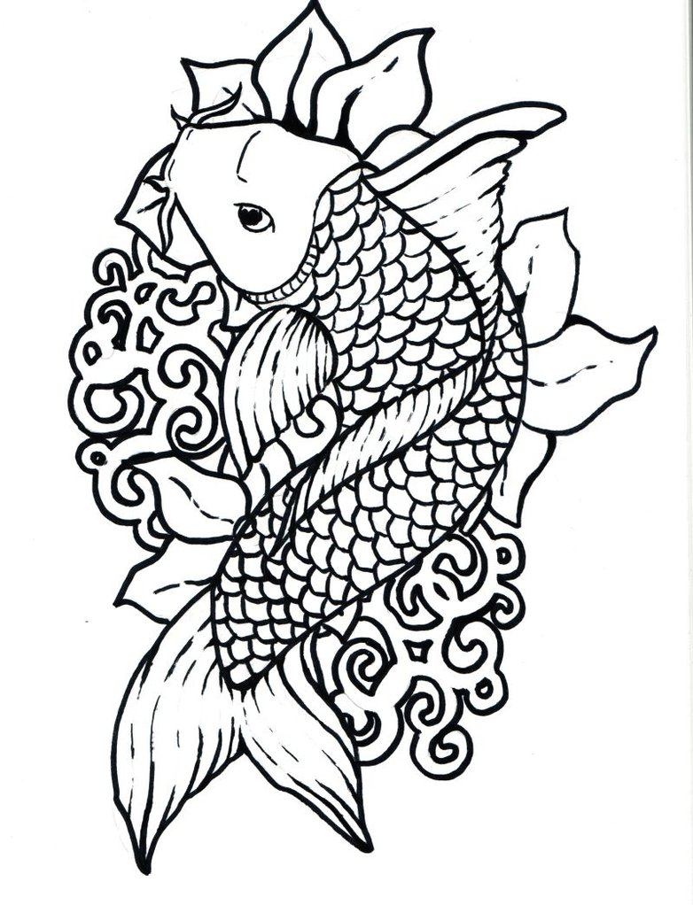 782x1022 Outline Drawings Of Fish Group