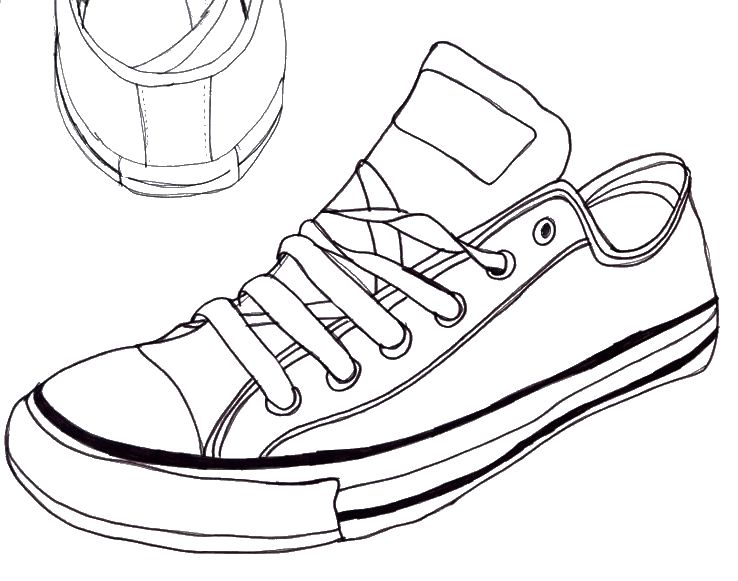 738x581 Converse Sneaker Line Art Converse Drawing 1 By The Haunted