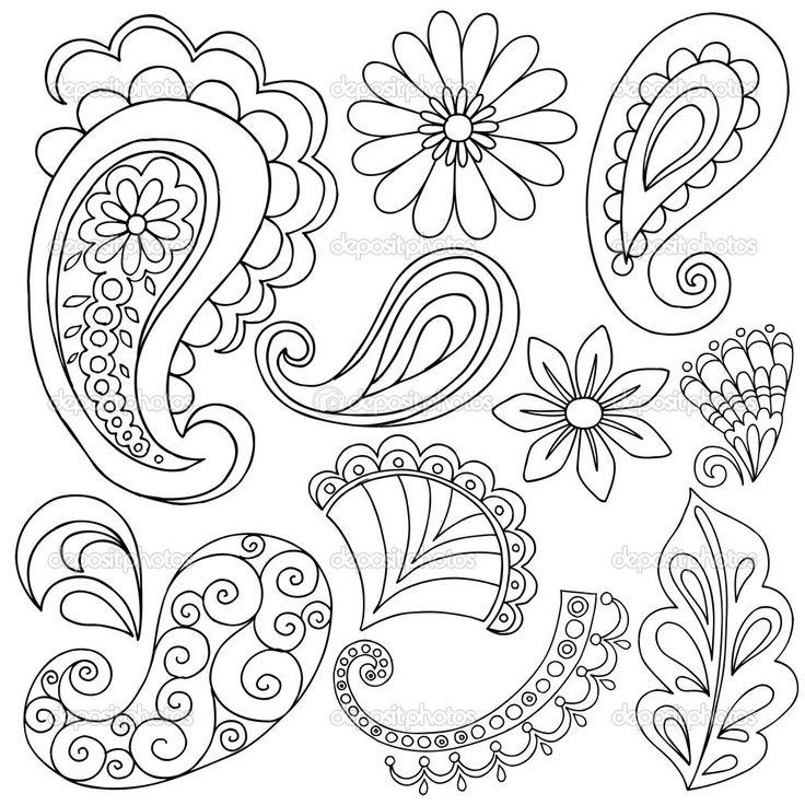 736x736 Drawing Paisley