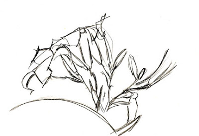 400x274 The Artist's Brain Art Lesson Gesture Drawings Of Plants