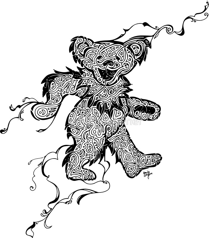 grateful dead bears coloring pages | Grateful Dead Bear Drawing at GetDrawings.com | Free for ...