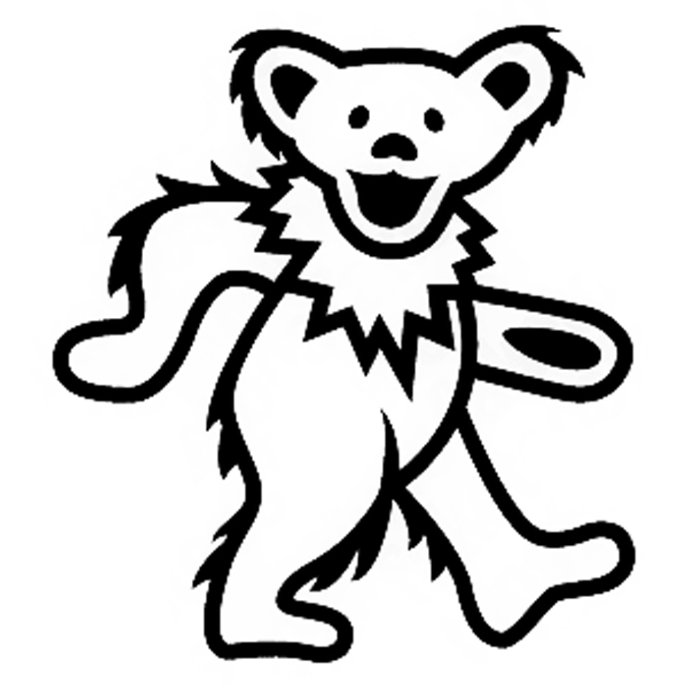 Grateful dead bear drawing at free for for Grateful dead coloring pages