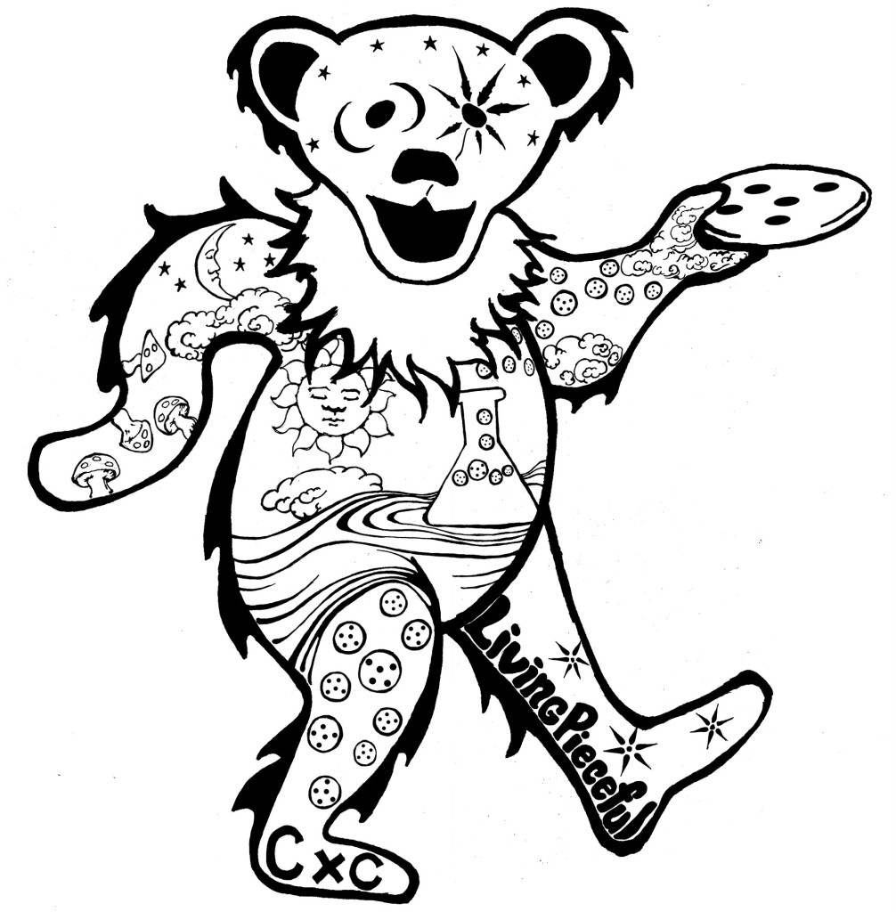Grateful Dead Bear Drawing at GetDrawings.com | Free for personal ...
