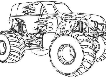 440x330 Grave Digger Coloring Pages 32255