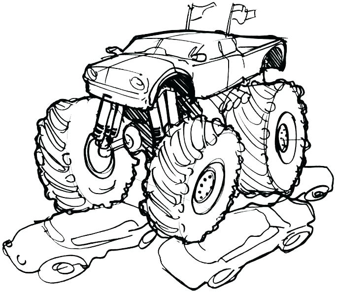 684x599 Grave Digger Monster Truck Coloring Sheets And Coloring